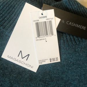 NWT Magaschoni cashmere sweater L